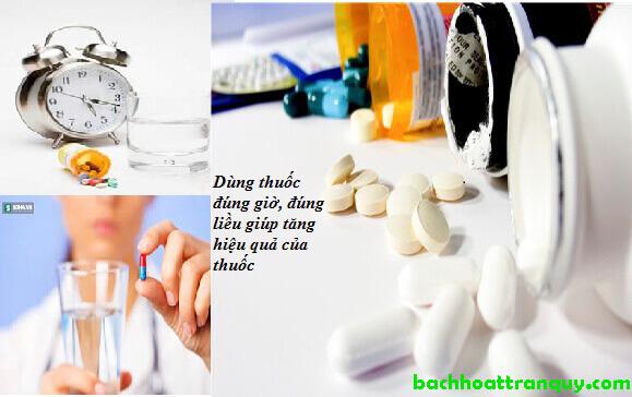 dùng thuốc đúng liều lượng và thời gian quy định